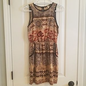 Eclectic, boho style dress